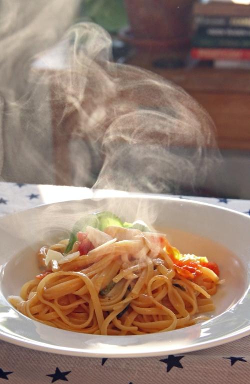 Siitä tuli sittenkin ihan oikeaa maukasta pastaa.